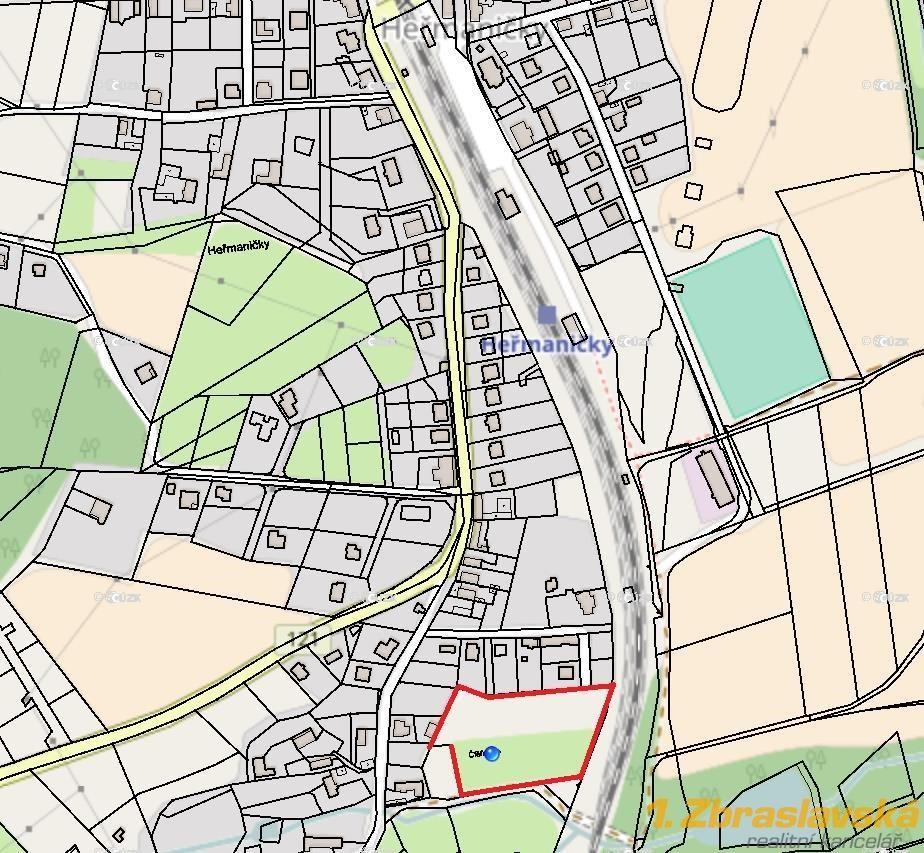 Heřmaničky, Prodej pozemku o 8 650 m2 s možností dělení, Votice
