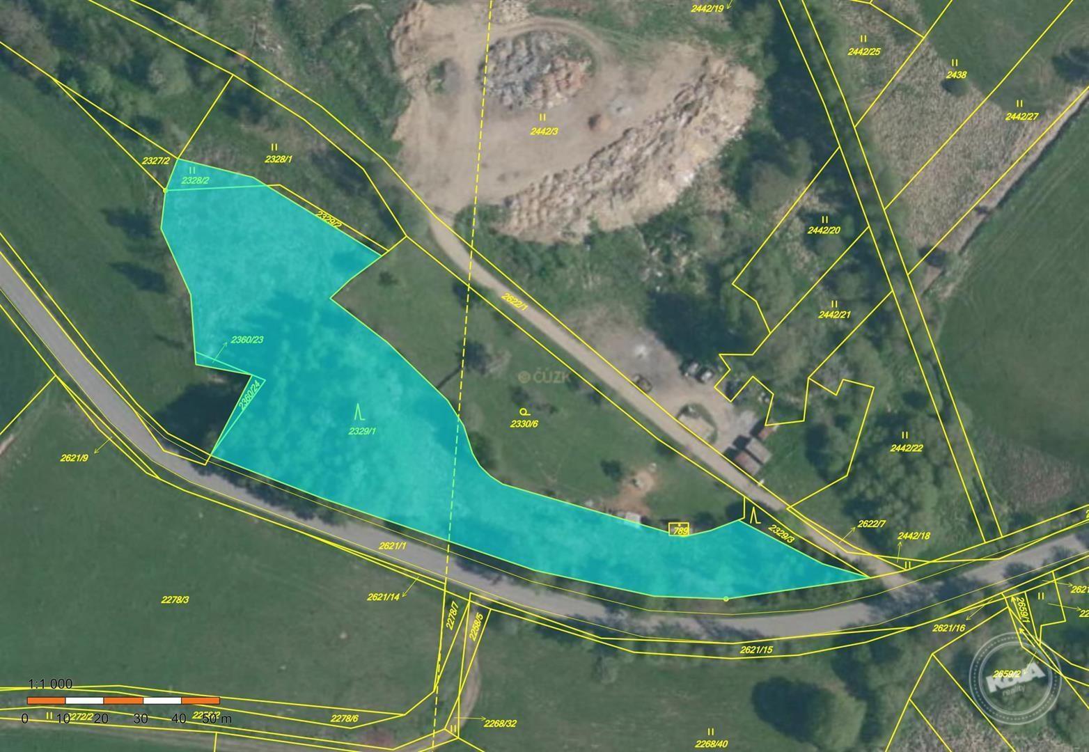 Dražba lesních pozemků cca 6 000 m2, kú. Horní Cerekev